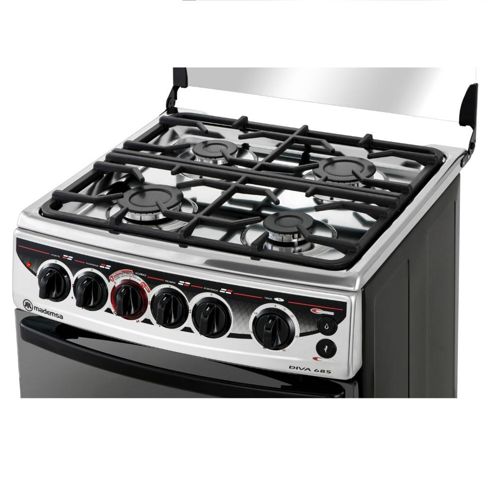 Cocina 4 platos diva 685 cocci n mademsa todo lo que - Cocina encimera teka 4 platos ...