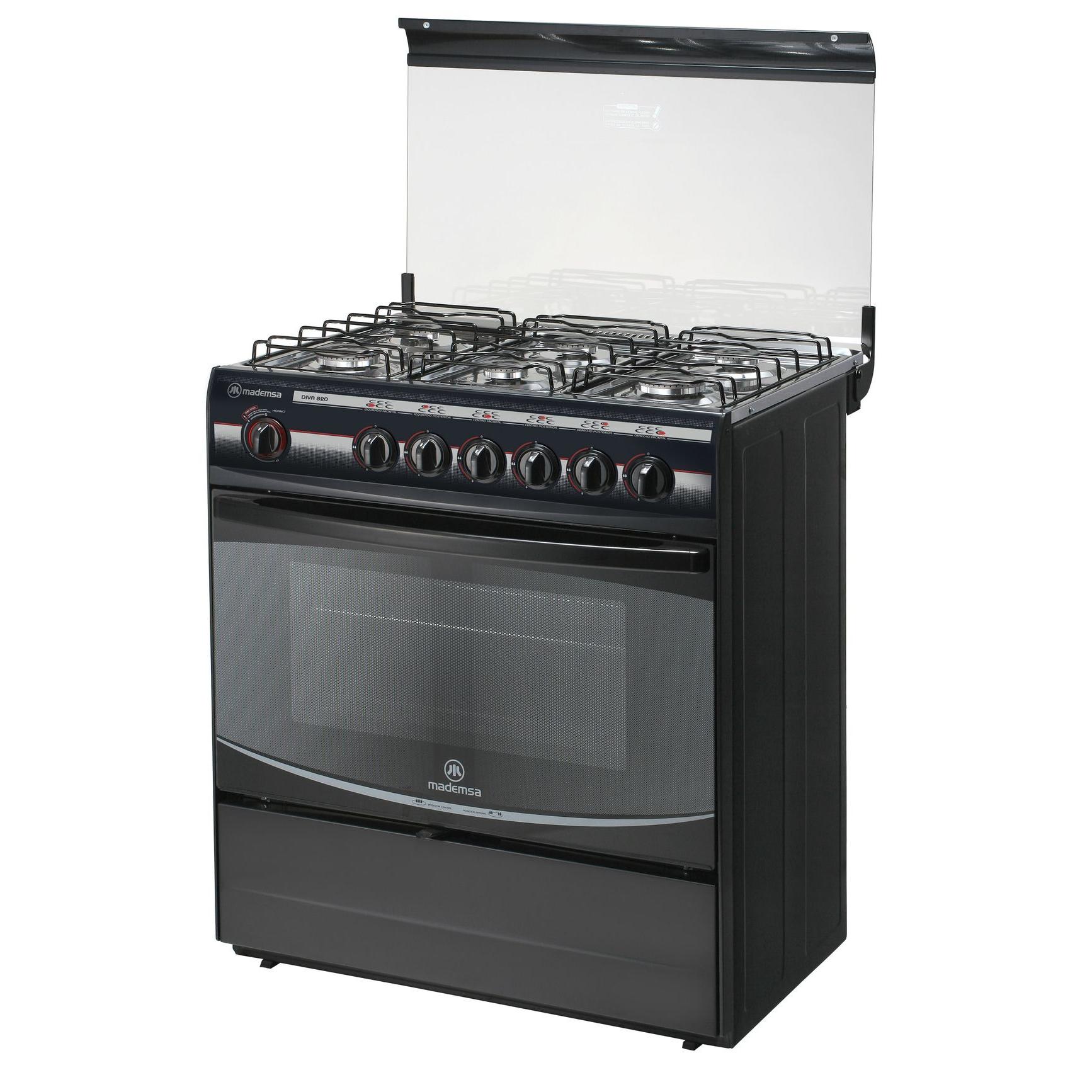 Cocina 6 platos diva 820 cocci n mademsa todo lo que for Cocina 6 quemadores