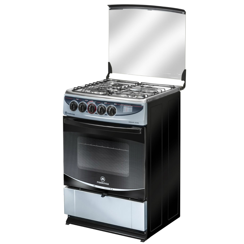 Cocina 4 platos diva 636 silver cocci n mademsa todo for Platos cocina